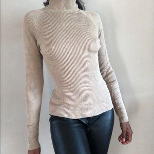 100% silk turtleneck sweater